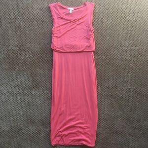 Leith coral midi tube dress, XS